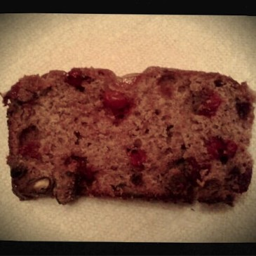 cranberry buttermilk bread with pistachio & candied kumquat